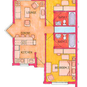 Sun City Vacation Club - Unit Floor Plan