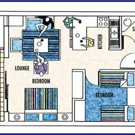 Club Mykonos Langebaan - Unit Floor Plan