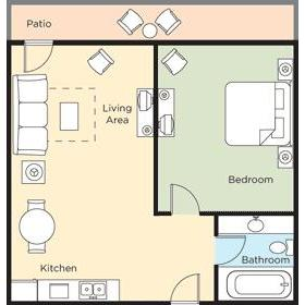 1BDR Deluxe Floor Plan