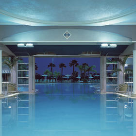 Heated pool, indoor section