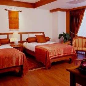 Bedroom at the QVC @ Andaman Beach Resort
