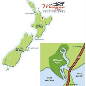 Map of New Zealand with location of Marama Point