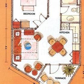 One-bedroom layout