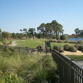 Golf course by the lake