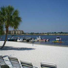 Orange Lake White Sand Beach