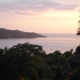 Beautiful Costa Rican sunset