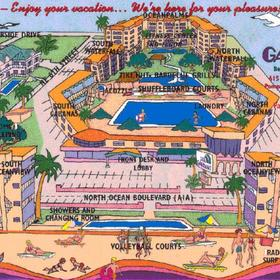 Wyndham Sea Gardens - Resort Map