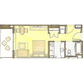 Studio unit floorplan