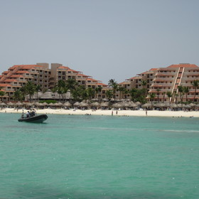 View of resort from the water