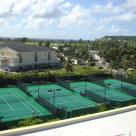 Multiple tennis courts