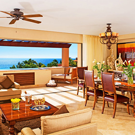 Las Residencias Golf & Beach Club Living and Dining Area