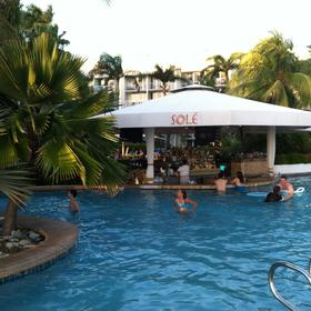View of the swim up bar.