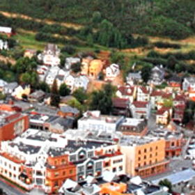 Aerial View of Park City's Historic Main Street