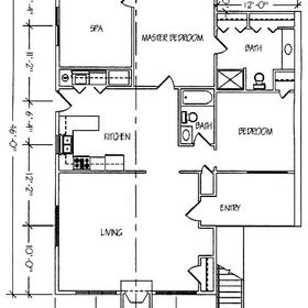 Apple Valley Resort - Unit Floor Plan