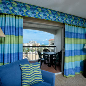 The Resort on Cocoa Beach Living Area