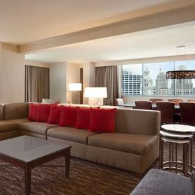 Wyndham Grand Chicago Riverfront Living and Dining Area
