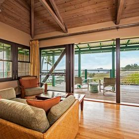 Travaasa Hana Living Area and Lanai