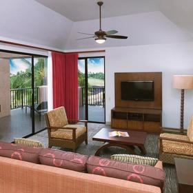 Hilton Grand Vacations Club (HGVC) at Waikoloa Beach Resort Living Area