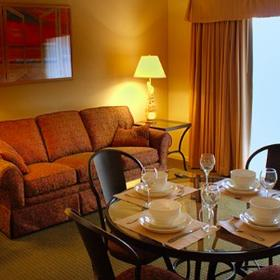 San Luis Bay Inn Dining and Living Area