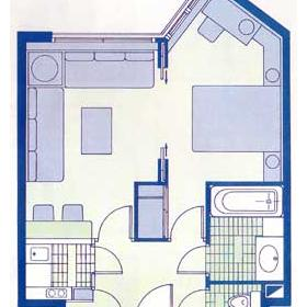 Residence Porte de Versailles - Floor Plan of a Unit