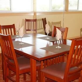Pacific Grove Plaza Dining Area