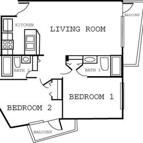The Cove on Ormond Beach - Two-Bedroom Floor Plan