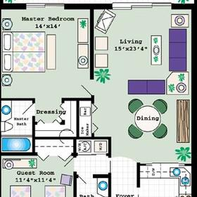 Charter Club Resort on Naples Bay - Unit Floor Plan