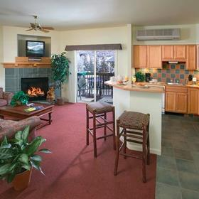 WorldMark Steamboat Springs Resort Living Area and Kitchen