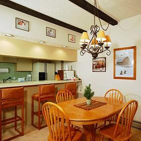 The Rockies Condominiums Kitchen and Dining Area