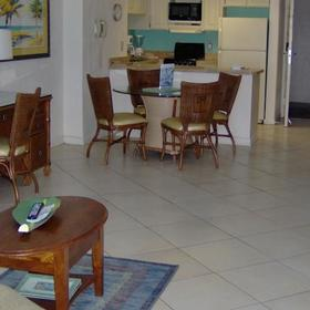 Islander Beach Resort Living and Dining Area