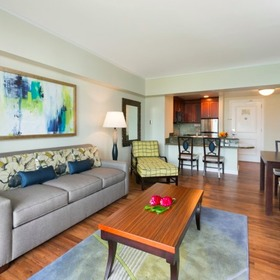 Hilton Grand Vacations Club (HGVC) at the Kalia Tower Living Area