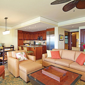 Marriott's Kauai Lagoons - Kalanipu'u Living Area