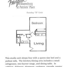 Wyndham Patriots' Place - Unit Floor Plan