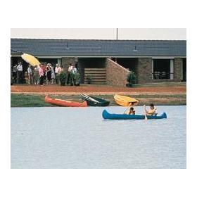 Canoeing on the Lakeside Country Club private lake