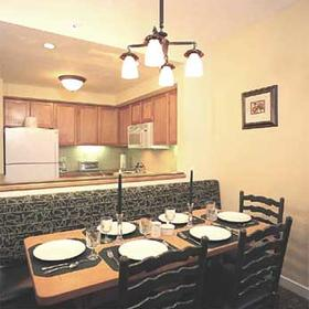 Marriott's MountainSide at Park City - Unit Kitchen & Dining Areas