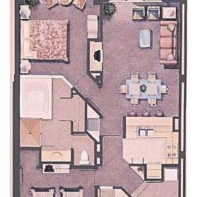 Marriott's Sunset Pointe - Unit Floor Plan