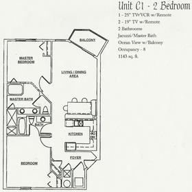 Wyndham Bay Club II - Unit Floor Plan
