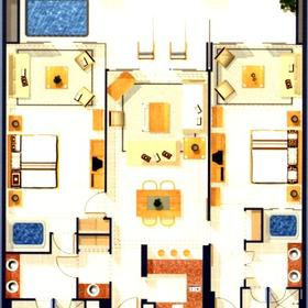 Avalon Grand Resort - Unit Floor Plan
