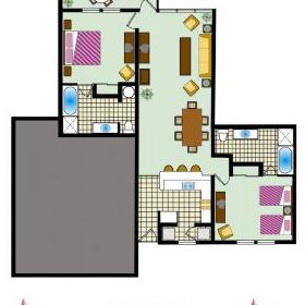 Palace View by Spinnaker - Unit Floor Plan