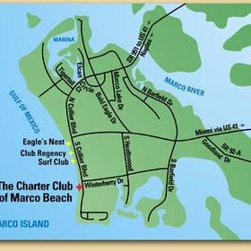 The Charter Club of Marco Beach - map