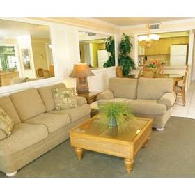 Charter Club Resort on Naples Bay - Unit Living Area
