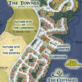 The Cottages at King's Creek Plantation - Resort Map