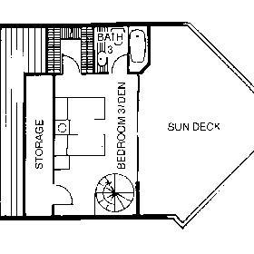 Floor Plan of the 3rd Floor of the Ocean View Townhouses