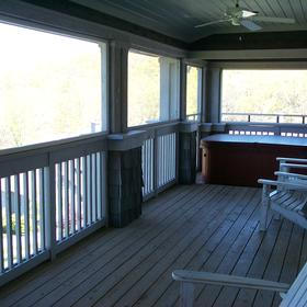 Owners Club at the Homestead - Unit Deck With Hot Tub