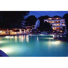 Pool at night at the Perla Hills Hotel