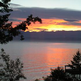 Sunrise on Flathead Lake