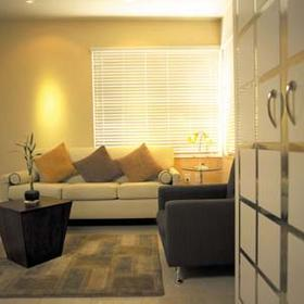 Unit Living Area at the Crescent