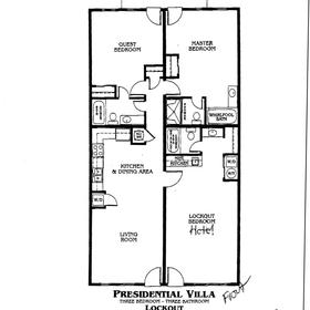 Presidential Villas at Plantation Resort - Unit Floor Plan