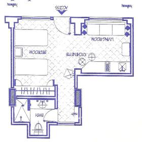 Club Velas Vallarta - Studio Unit Floor Plan