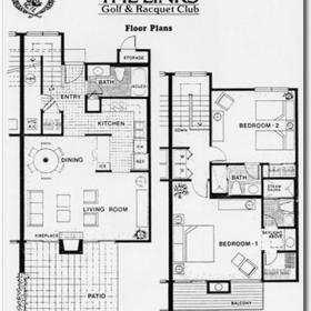 Links Golf and Racquet Club - Floor plan
